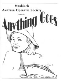 Anything Goes Programme cover
